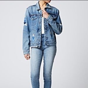 Blank NYC Jackets & Coats - Blank NYC Embroidered Denim Jacket
